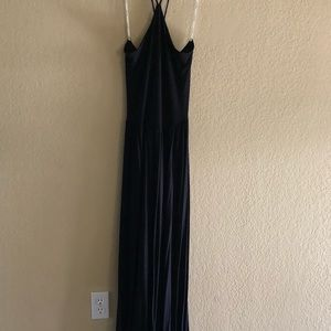 Maxi, open back cotton dress